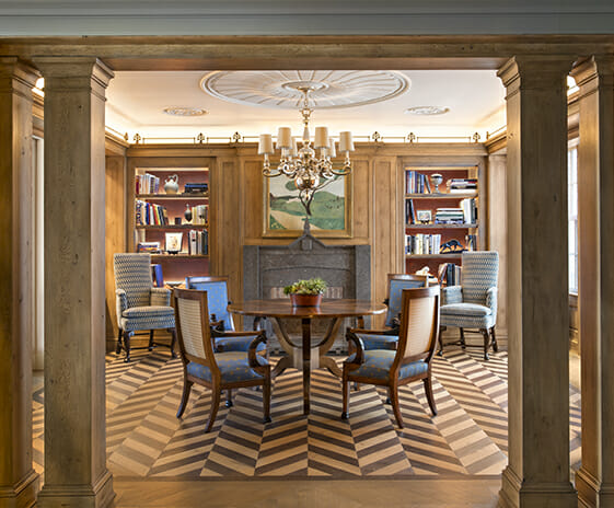 East Lake Shore Drive Penthouse, Featured Image, View of library