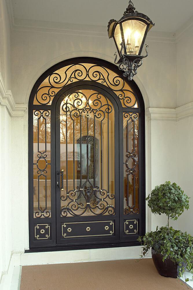Wrought Iron Entry