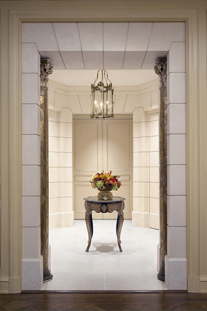 Lake Shore Drive Beaux Arts, Featured Image, View of foyer